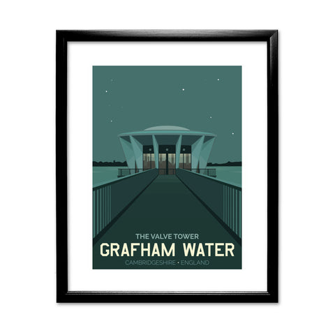Grafham Water, Cambridgeshire 11x14 Framed Print (Black)