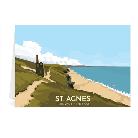 St Agnes, Cornwall Greeting Card 7x5