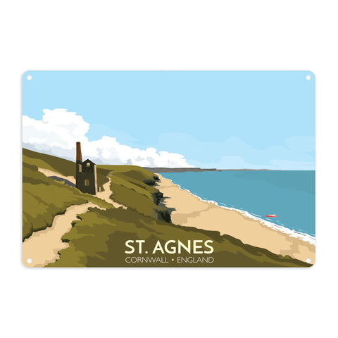 St Agnes, Cornwall Metal Sign