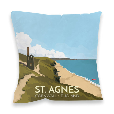 St Agnes, Cornwall Fibre Filled Cushion