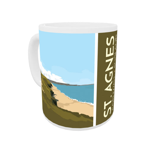 St Agnes, Cornwall Coloured Insert Mug