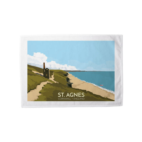 St Agnes, Cornwall Tea Towel