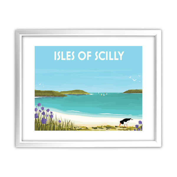 Isles Of Scilly 11x14 Framed Print (White)