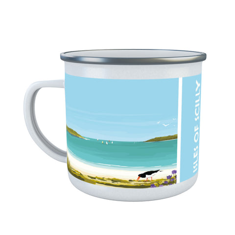 Isles Of Scilly Enamel Mug