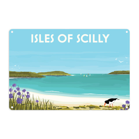 Isles Of Scilly Metal Sign
