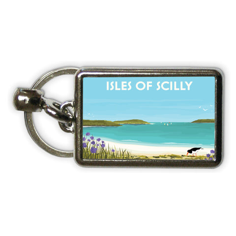 Isles Of Scilly Metal Keyring