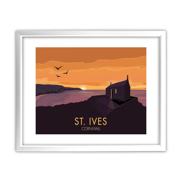 St Ives, Cornwall 11x14 Framed Print (White)