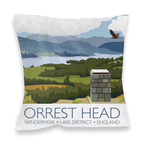 Orrest Head, Windermere, Lake District Fibre Filled Cushion