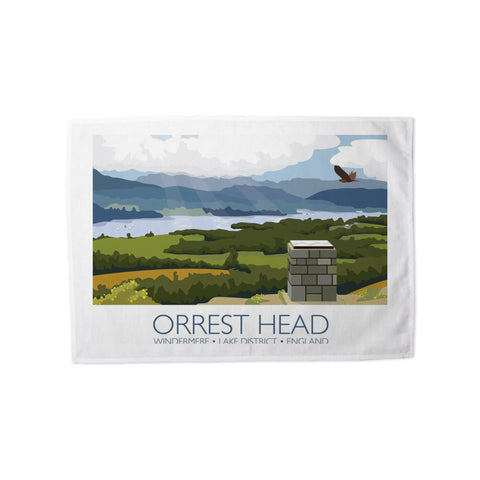 Orrest Head, Windermere, Lake District Tea Towel