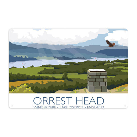 Orrest Head, Windermere, Lake District Metal Sign