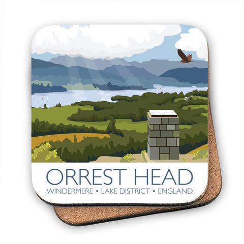 Orrest Head, Windermere, Lake District MDF Coaster