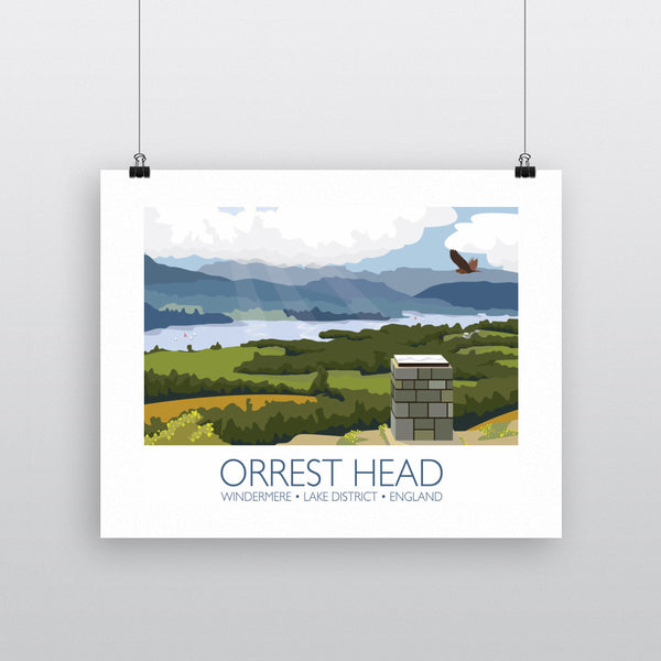 Orrest Head, Windermere, Lake District 11x14 Print
