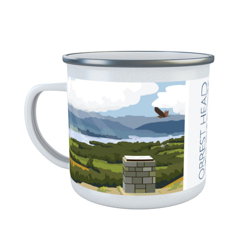 Orrest Head, Windermere, Lake District Enamel Mug