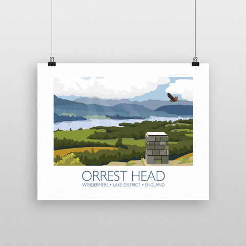 Orrest Head, Windermere, Lake District 90x120cm Fine Art Print