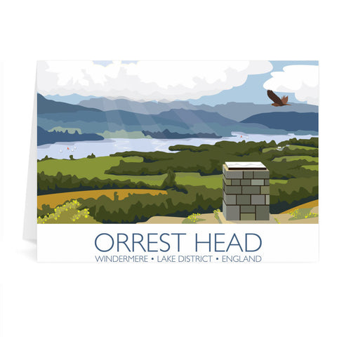 Orrest Head, Windermere, Lake District Greeting Card 7x5