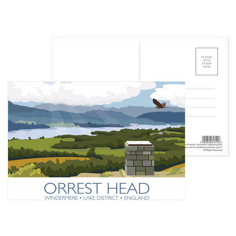 Orrest Head, Windermere, Lake District Postcard Pack