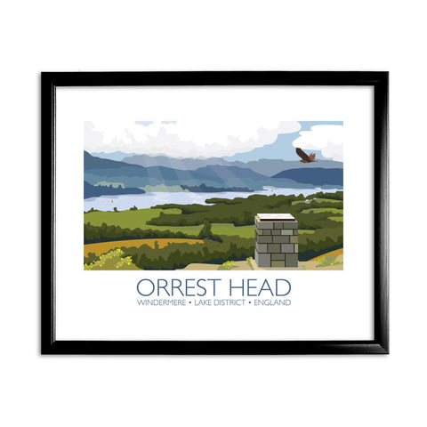 Orrest Head, Windermere, Lake District 11x14 Framed Print (Black)