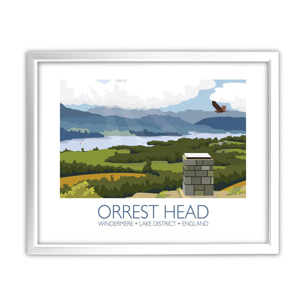 Orrest Head, Windermere, Lake District 11x14 Framed Print (White)