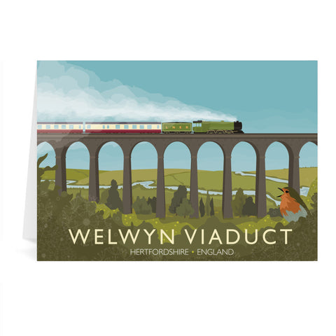 Welwyn Viaduct, Hertfordshire Greeting Card 7x5