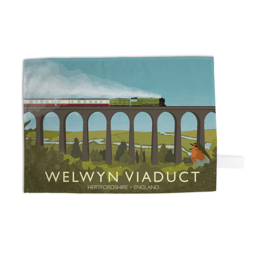 Welwyn Viaduct, Hertfordshire Tea Towel