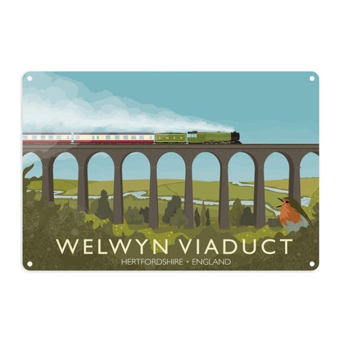 Welwyn Viaduct, Hertfordshire Metal Sign