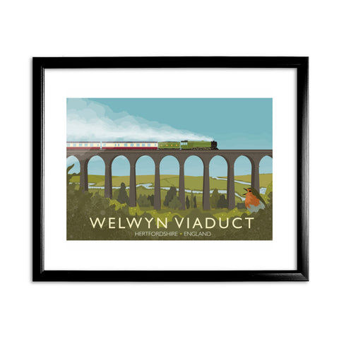 Welwyn Viaduct, Hertfordshire 11x14 Framed Print (Black)