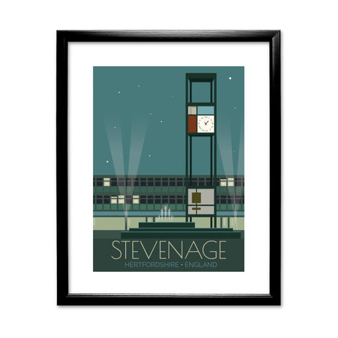 Stevenage, Hertfordshire 11x14 Framed Print (Black)