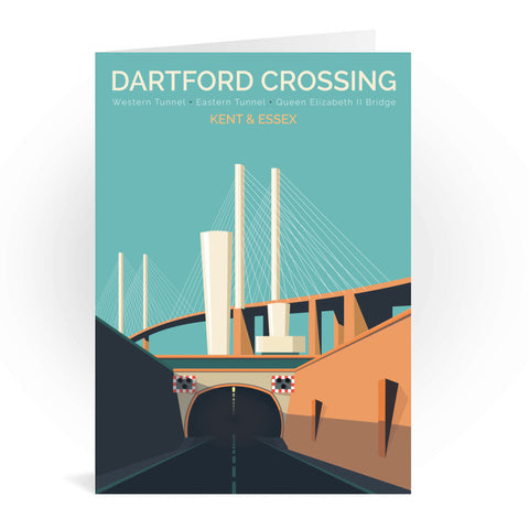 Dartford Crossing, Kent & Essex Greeting Card 7x5