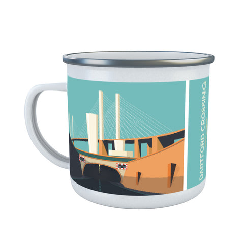 Dartford Crossing, Kent & Essex Enamel Mug