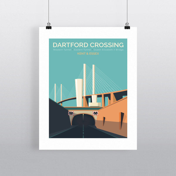 Dartford Crossing, Kent & Essex 11x14 Print
