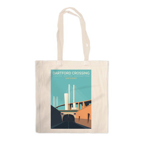 Dartford Crossing, Kent & Essex Canvas Tote Bag