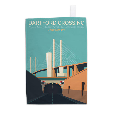 Dartford Crossing, Kent & Essex Tea Towel