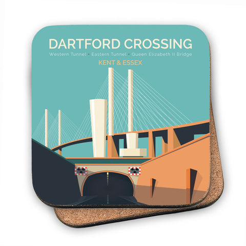 Dartford Crossing, Kent & Essex MDF Coaster