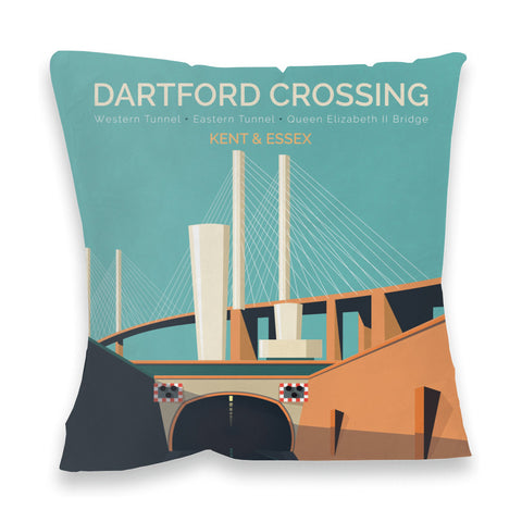 Dartford Crossing, Kent & Essex Fibre Filled Cushion