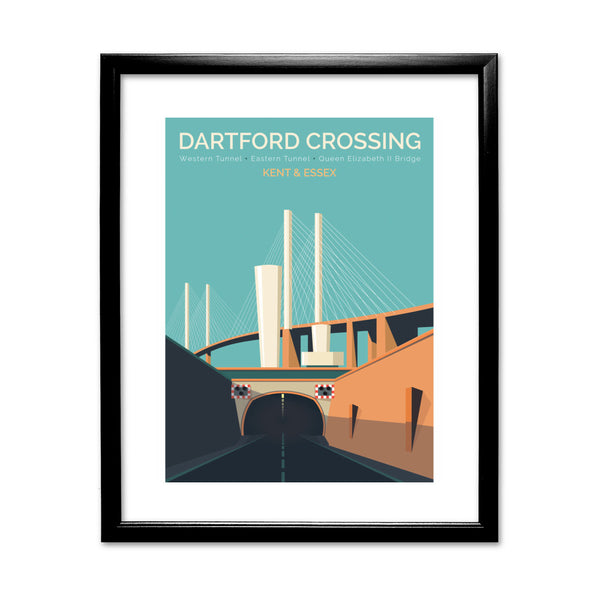 Dartford Crossing, Kent & Essex 11x14 Framed Print (Black)
