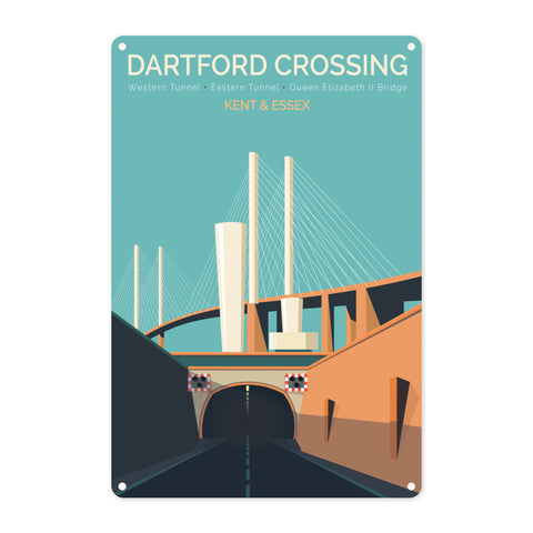 Dartford Crossing, Kent & Essex Metal Sign
