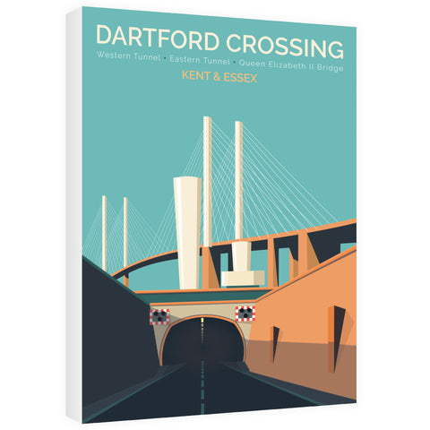 Dartford Crossing, Kent & Essex 60cm x 80cm Canvas