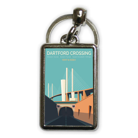 Dartford Crossing, Kent & Essex Metal Keyring