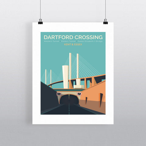 Dartford Crossing, Kent & Essex 90x120cm Fine Art Print