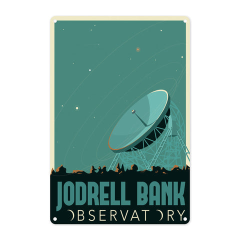 Jodrell Bank Observatory Metal Sign
