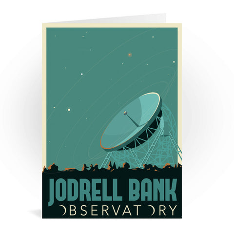 Jodrell Bank Observatory Greeting Card 7x5
