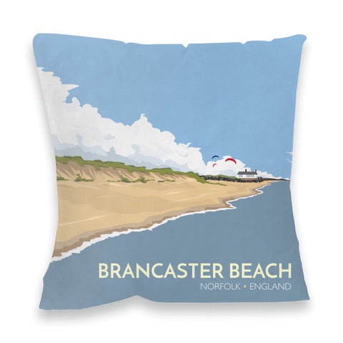 Brancaster Beach, Norfolk Fibre Filled Cushion