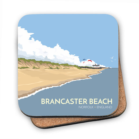 Brancaster Beach, Norfolk MDF Coaster