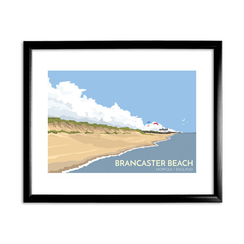 Brancaster Beach, Norfolk 11x14 Framed Print (Black)