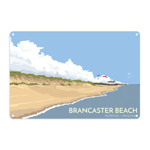 Brancaster Beach, Norfolk Metal Sign