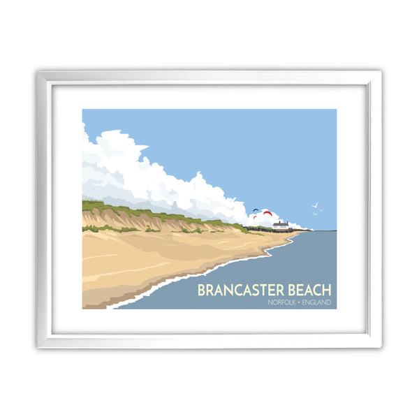 Brancaster Beach, Norfolk 11x14 Framed Print (White)
