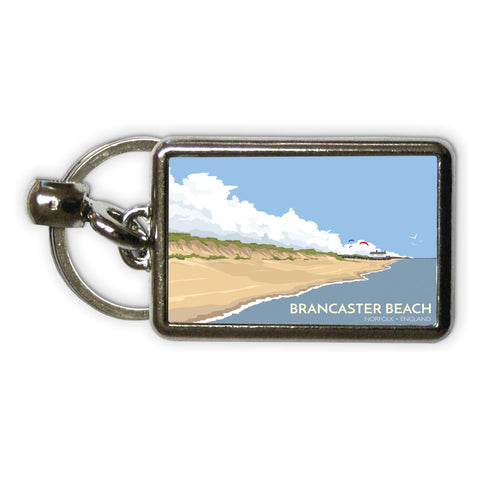 Brancaster Beach, Norfolk Metal Keyring