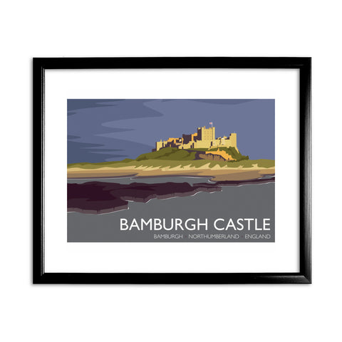 Bamburgh Castle, Northumberland 11x14 Framed Print (Black)