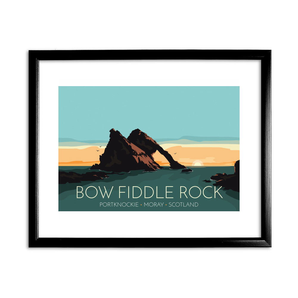 Bow Fiddle Rock, Moray, Scotland 11x14 Framed Print (Black)