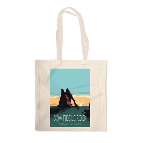 Bow Fiddle Rock, Moray, Scotland Canvas Tote Bag